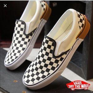 NIB Vans Classic Slip On Checkerboard Gum Block